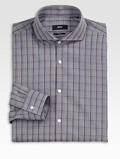 BOSS Black - Dwayne Slim Check Dress Shirt