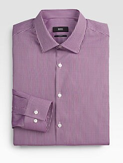 BOSS Black - Jenno Striped Slim Dress Shirt