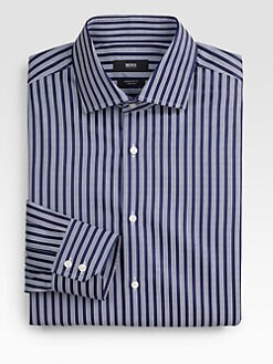 BOSS Black - Gerald Wide Striped Dress Shirt