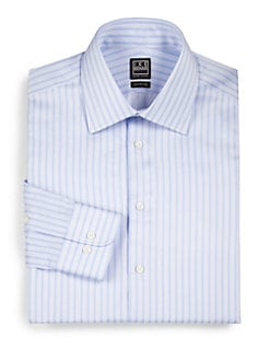 Ike Behar - Track-Stripe Dress Shirt
