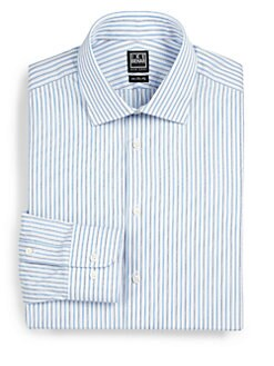 Ike Behar - Alternating-Stripe Dress Shirt
