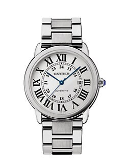 Cartier - Stainless Steel Extra-Large Round Bracelet Watch