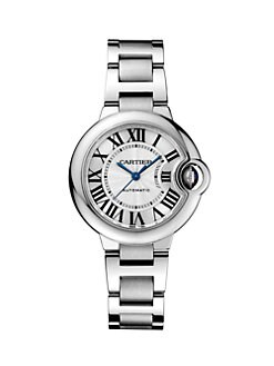 Cartier - Stainless Steel Round Bracelet Watch