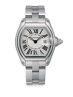 Cartier - Roadster Stainless Steel Small Bracelet Watch/White