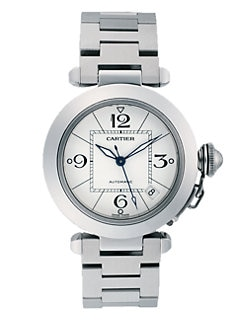 Cartier - Pasha C de Cartier Stainless Steel Watch on Bracelet