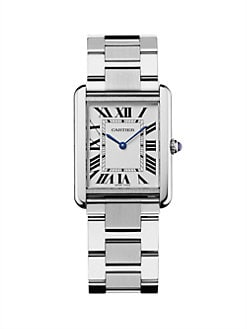 Cartier - Tank Solo Stainless Steel Watch on Bracelet, Large