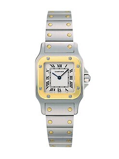 Cartier - Santos Galbee Stainless Steel and 18K Yellow Gold Watch on Bracelet, Small