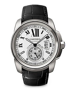 Cartier - Calibre de Cartier Stainless Steel Watch on Alligator Strap