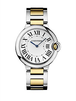 Cartier - Ballon Bleu Stainless Steel and Yellow Gold Bracelet, Medium