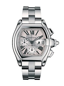 Cartier - Roadster Chronograph Stainless Steel Watch on Bracelet/Interchangeable Strap, Extra Large