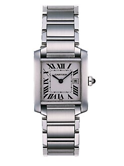 Cartier - Tank Francaise Stainless Steel Watch on Bracelet, Medium