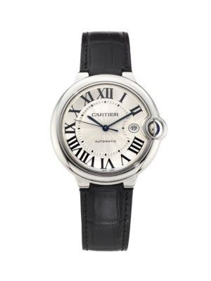 Ballon Bleu de Cartier Stainless Steel & Alligator Strap Watch