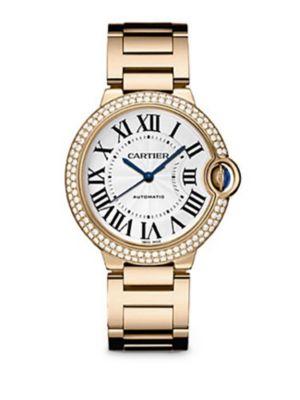 Ballon Bleu de Cartier Medium Diamond & 18K Pink Gold Bracelet Watch 0417185248941