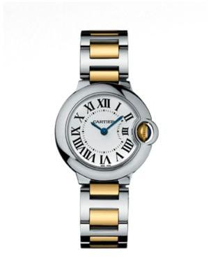 Ballon Bleu de Cartier Small 18K Yellow Gold & Stainless Steel Bracelet Watch