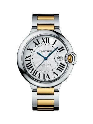 Ballon Bleu de Cartier Automatic Large 18K Yellow Gold & Stainless Steel Bracelet Watch 0417185274889