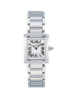 Cartier - Tank Francaise Stainless Steel Watch on Bracelet, Small