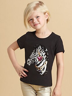Juicy Couture - Toddler's & Little Girl's Sequined Zebra Tee