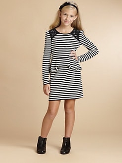 Juicy Couture - Girl's Striped Peplum Dress