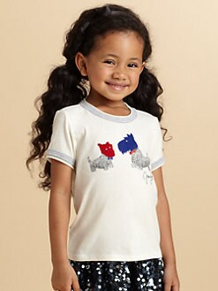 Juicy Couture - Toddler's & Little Girl's Jeweled Doggy Love Tee