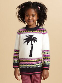 Juicy Couture - Toddler's & Little Girl's Palm Tree Fair Isle Sweater