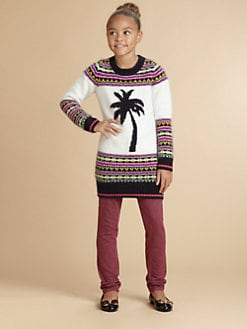 Juicy Couture - Girl's Palm Tree Fair Isle Sweater