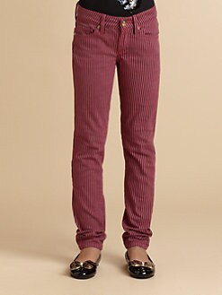 Juicy Couture - Girl's Striped Skinny Jeans