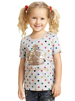Juicy Couture - Toddler's & Little Girl's Heather Polka Dot Tee