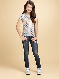 Juicy Couture - Girl's Dotted Crown Tee