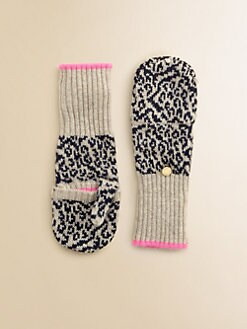 Juicy Couture - Girl's Snow Leopard Mittens