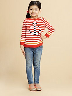 Juicy Couture - Toddler's & Little Girl's Striped Anchor Sweater