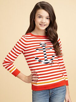 Juicy Couture - Girl's Striped Anchor Sweater