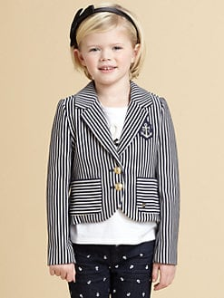 Juicy Couture - Toddler's & Little Girl's Striped Knit Blazer