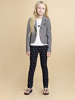 Juicy Couture - Girl's Striped Knit Blazer