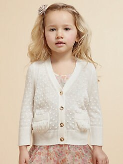 Juicy Couture - Toddler's & Little Girl's Dot-Stitch Cardigan Sweater