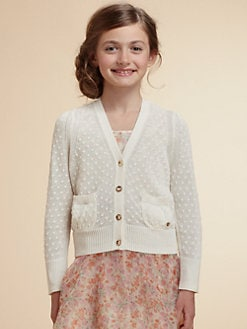 Juicy Couture - Girl's Dot-Stitch Cardigan Sweater