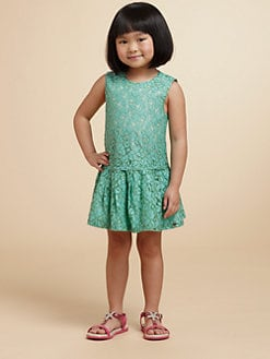 Juicy Couture - Toddler's & Little Girl's Drop-Waist Lace Dress