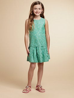 Juicy Couture - Girl's Drop-Waist Lace Dress