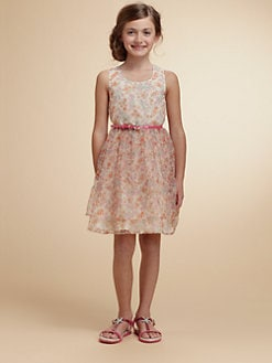Juicy Couture - Girl's Floral Organza Dress