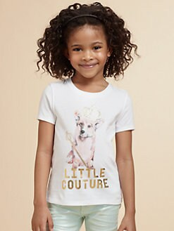 Juicy Couture - Toddler's & Little Girl's Embellished Pooch Tee