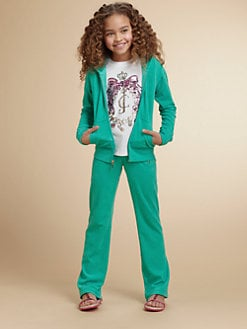 Juicy Couture - Girl's Embellished Terry Hoodie