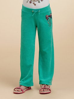 Juicy Couture - Toddler's & Little Girl's Embellished Stretch Terry Pants