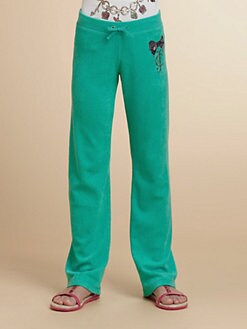 Juicy Couture - Girl's Embellished Stretch Terry Pants