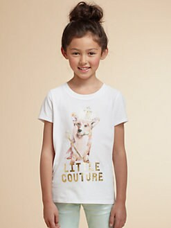 Juicy Couture - Girl's Embellished Pooch Tee