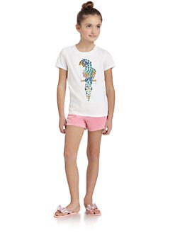 Juicy Couture - Girl's Parrot Bling Tee