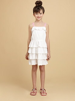 Juicy Couture - Girl's Ruffled Eyelet Dress