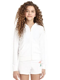 Juicy Couture - Girl's Flamingo Terry Hoodie
