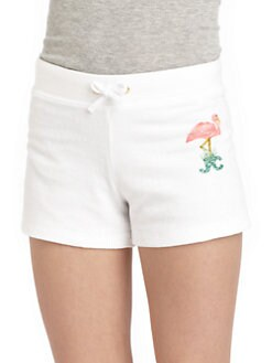 Juicy Couture - Girl's Terry Flamingo Shorts