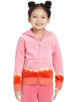 Juicy Couture - Toddler's & Little Girl's Dip Dye Velour Hoodie