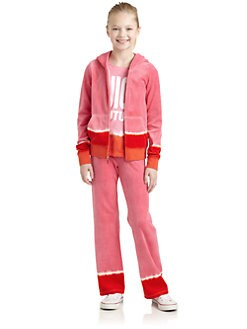 Juicy Couture - Girl's Dip Dye Velour Hoodie
