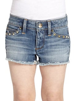 Juicy Couture - Toddler's & Little Girl's Studded Cut-Off Denim Shorts